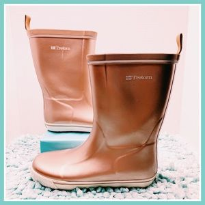 Tretorn Skerry Metallic Rose Gold Rain Snow Boots